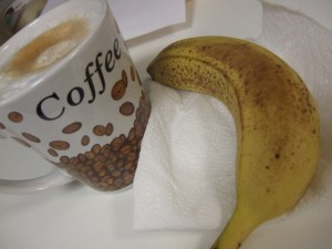 banana and cappuccino