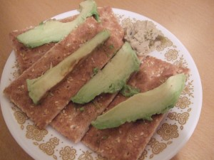 Avocado crackers