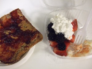 Toast, fruit, egg whites
