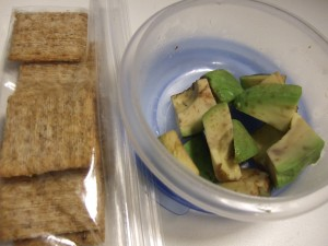 avocado and triscuits