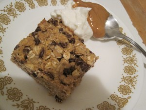 Oatmeal chocolate chip bar