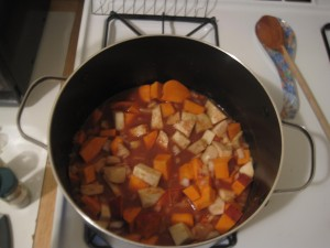 peanutty root vegetable stew