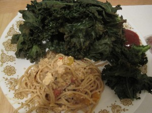 kale and peanut butter pasta