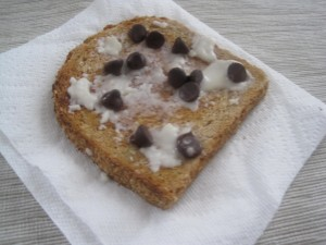 Coconut butter on toast