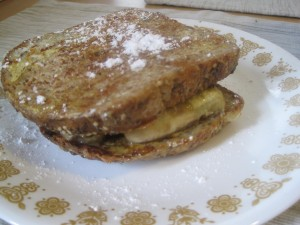caramelized banana french toast