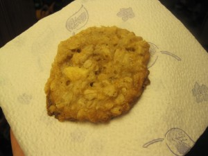 white chocolate oatmeal cookie