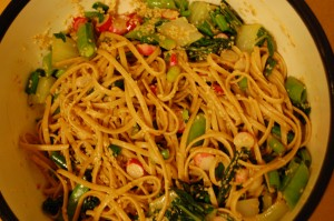 summer sesame asian noodle salad