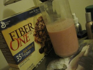 Smoothie and Fiber One
