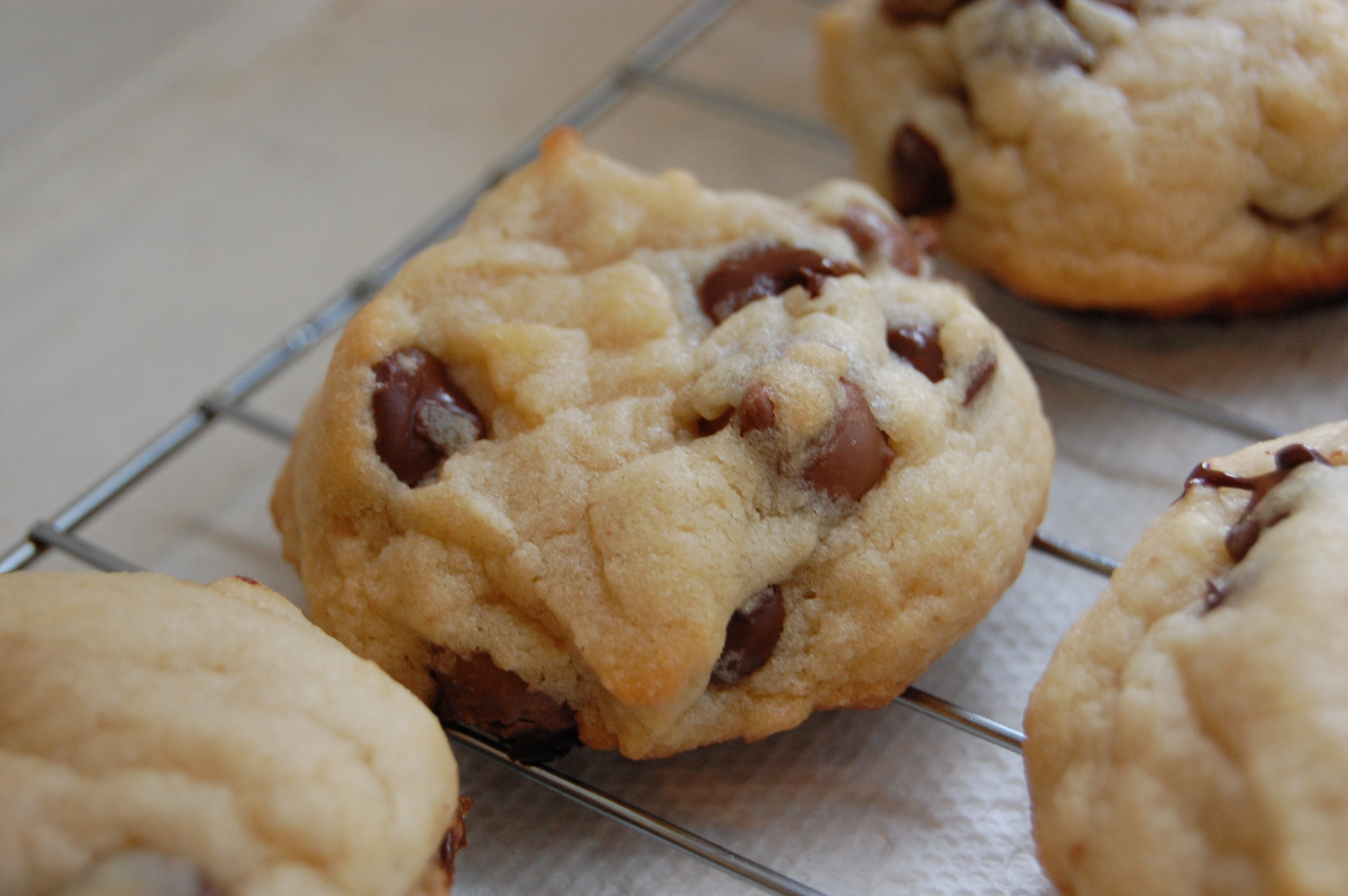 Best Thick Crunchy Chocolate Chip Cookies